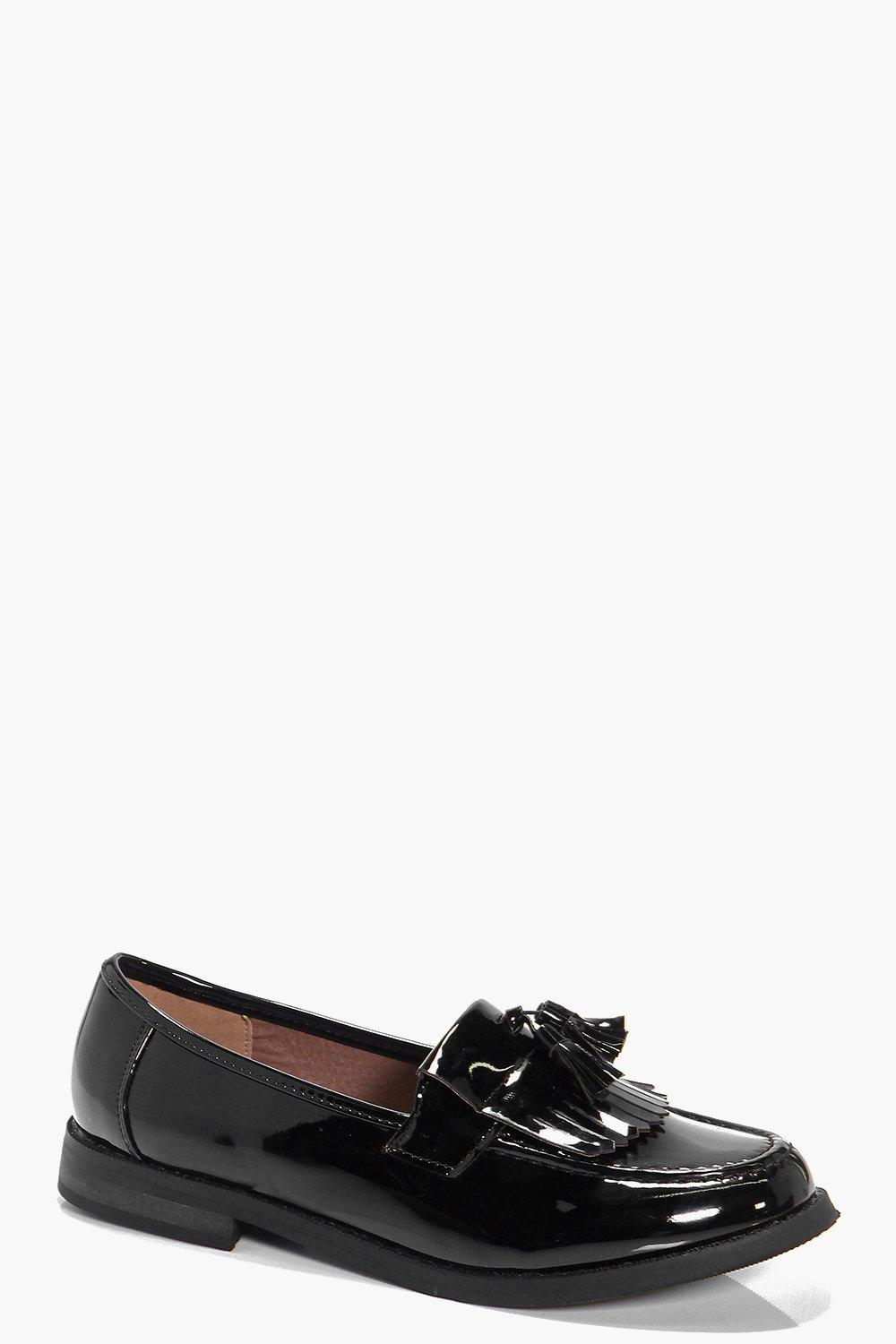 Fringe Trim Loafer black