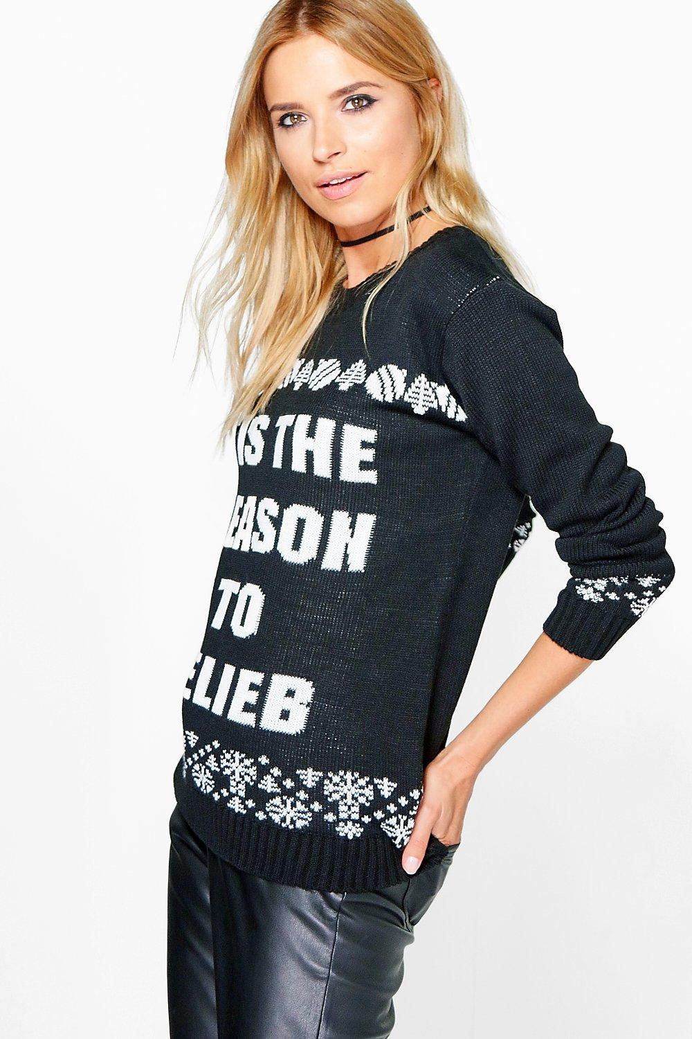 Maisie Tis The Season To Belieb Christmas Jumper