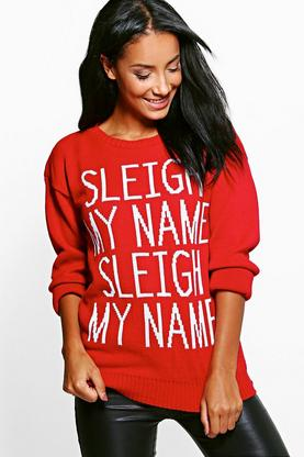 Charlotte Sleigh My Name Christmas Jumper