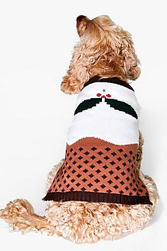 Caroline Christmas Pudding Dog Jumper