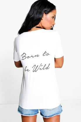 Lexi Born To Be Wild T Shirt