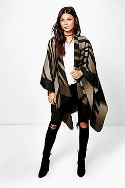 Amber Printed Woven Cape