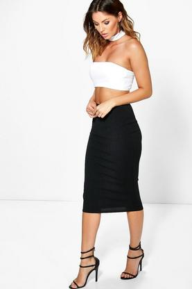 Heidi Choker Bandeau Crop And Midi Skirt Co-ord