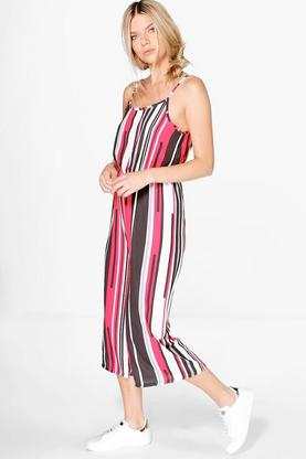 Sophie Striped Culottes Jumpsuit