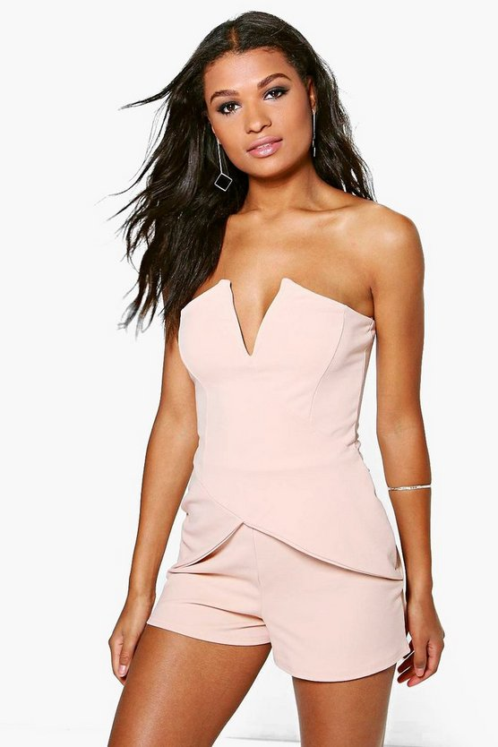 Lola Bandeau Cross Front Playsuit