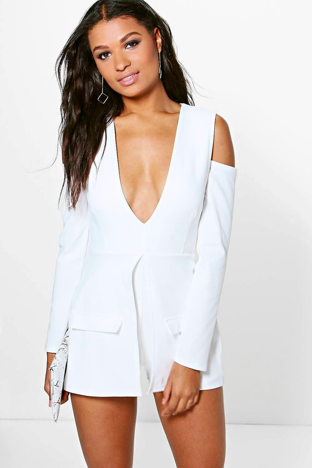 White Scoop Leotard Jumpsuit. $ A whole (look) in one! Fashionistas, stay ready: get your hands on chic, effortless jumpsuits and rompers. Love Culture has rompers with colorful floral prints, pockets, plunging necklines, and more. Slay in sexy jumpsuits with high slit legs, capes, ruffles, sequins, bell sleeves, mesh details and more!.