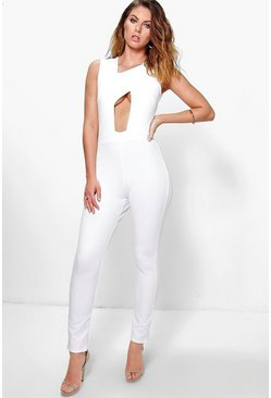 Claire Asymmetric Panel Jumpsuit