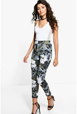 Marcelle Camo Floral Skinny Trousers