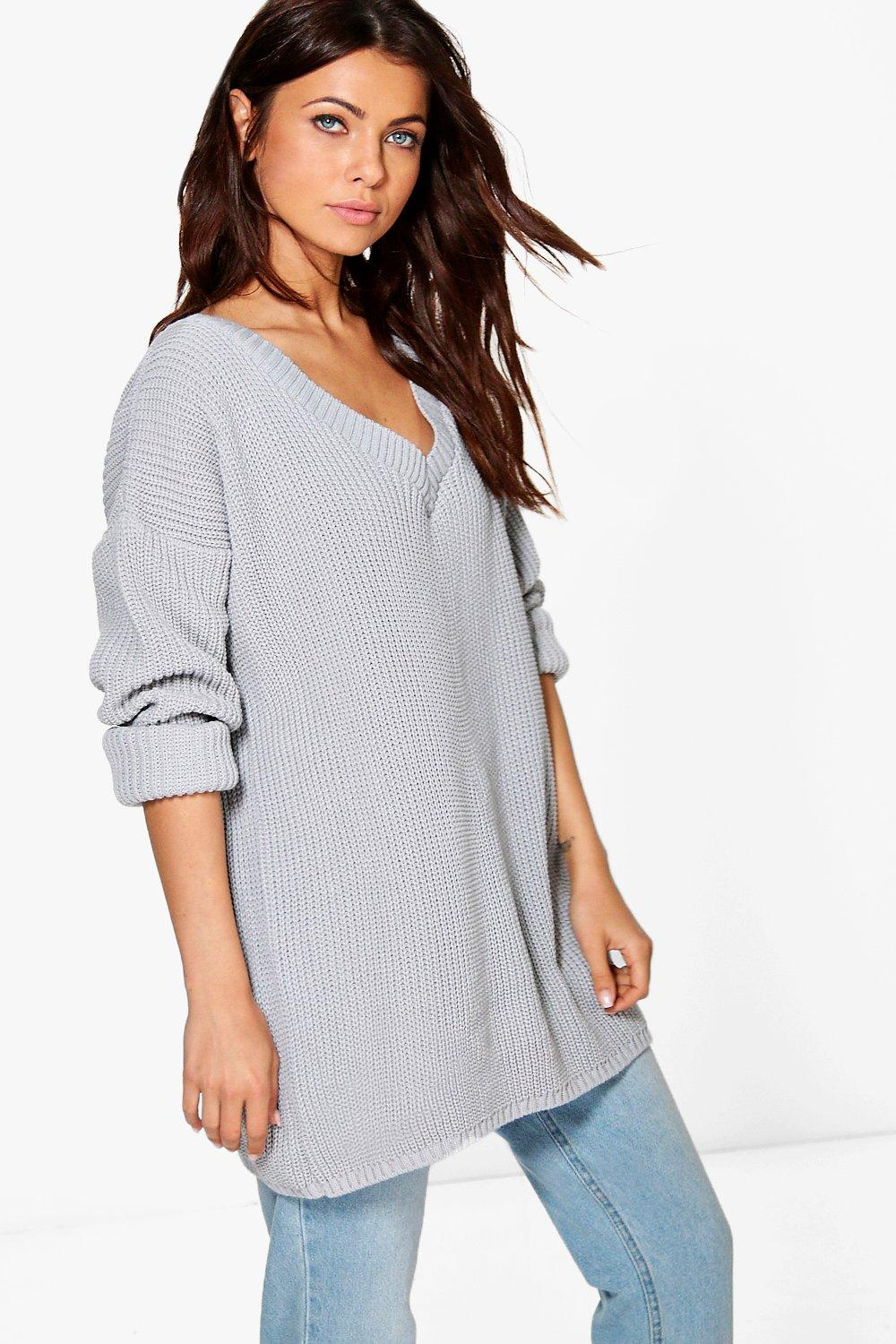 Hannah Rib V Neck Jumper