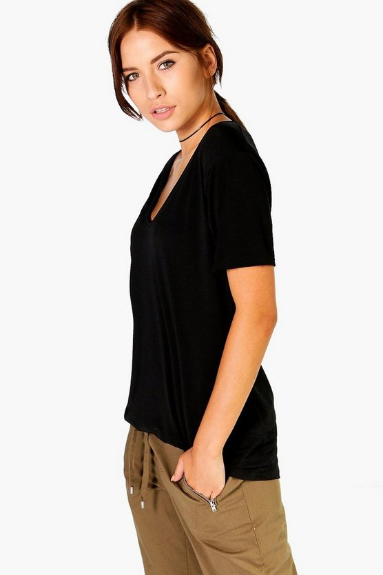 Lucy Extreme Scoop Oversized Slub T-Shirt