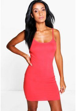 Abbie Basic Strappy Slip Dress