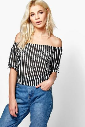 Amy Bardot Stripe Top