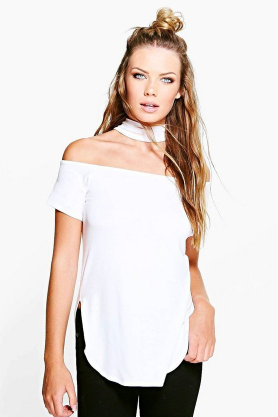 Katie Choker Split Side T-Shirt