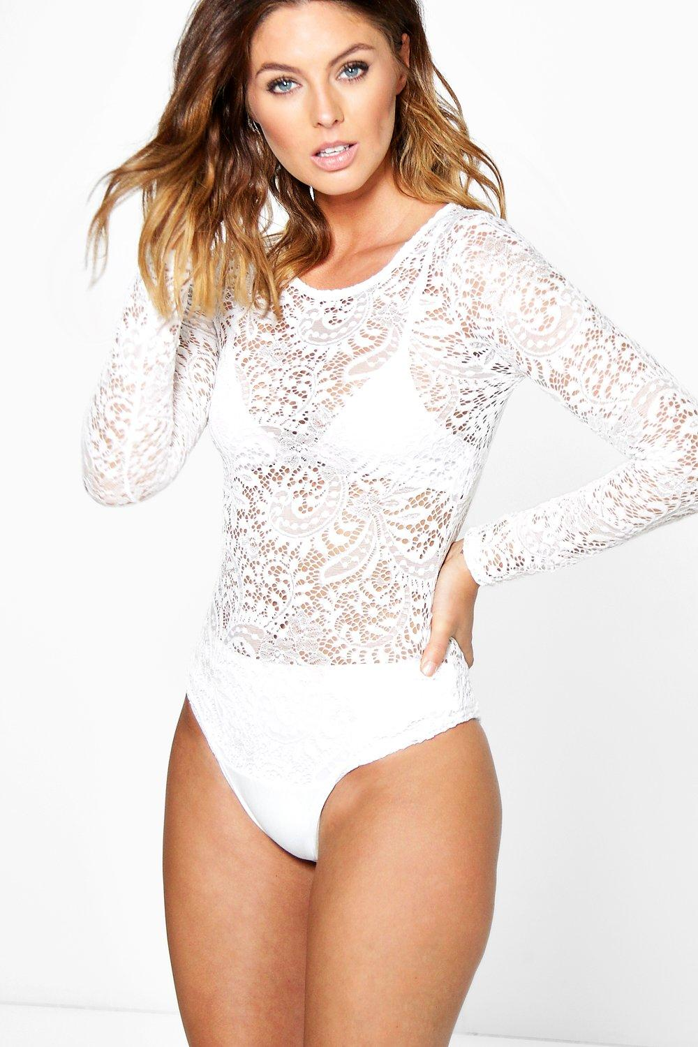 Megan Boutique Lace Long Sleeve Body