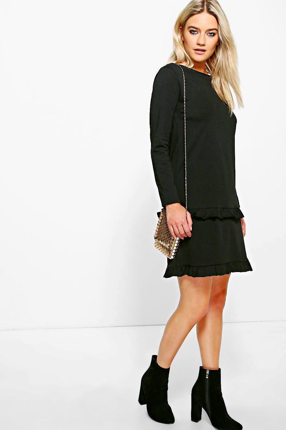 Anna Double Frill Shift Dress