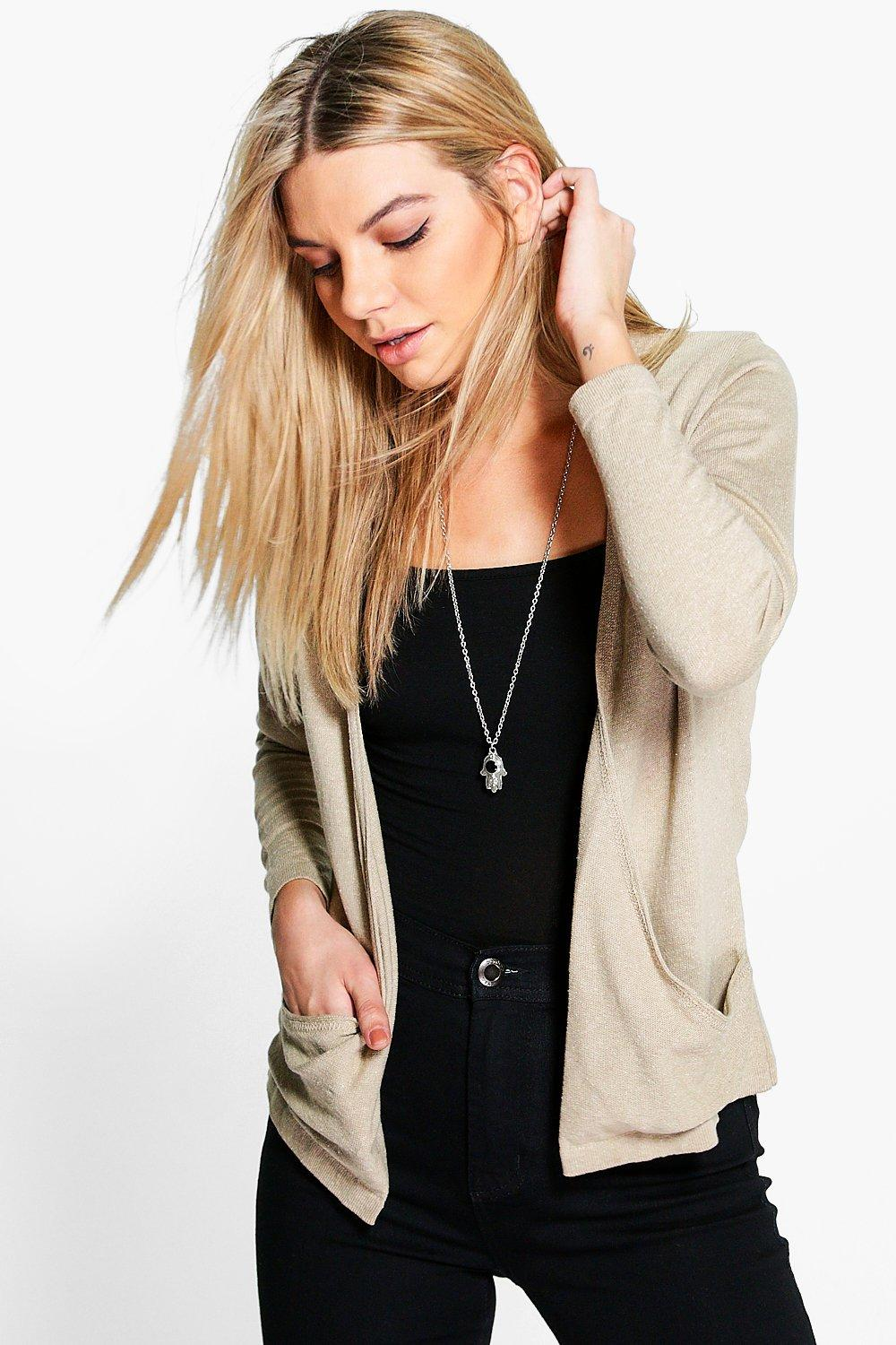 Freya Drape Pocket Cardigan
