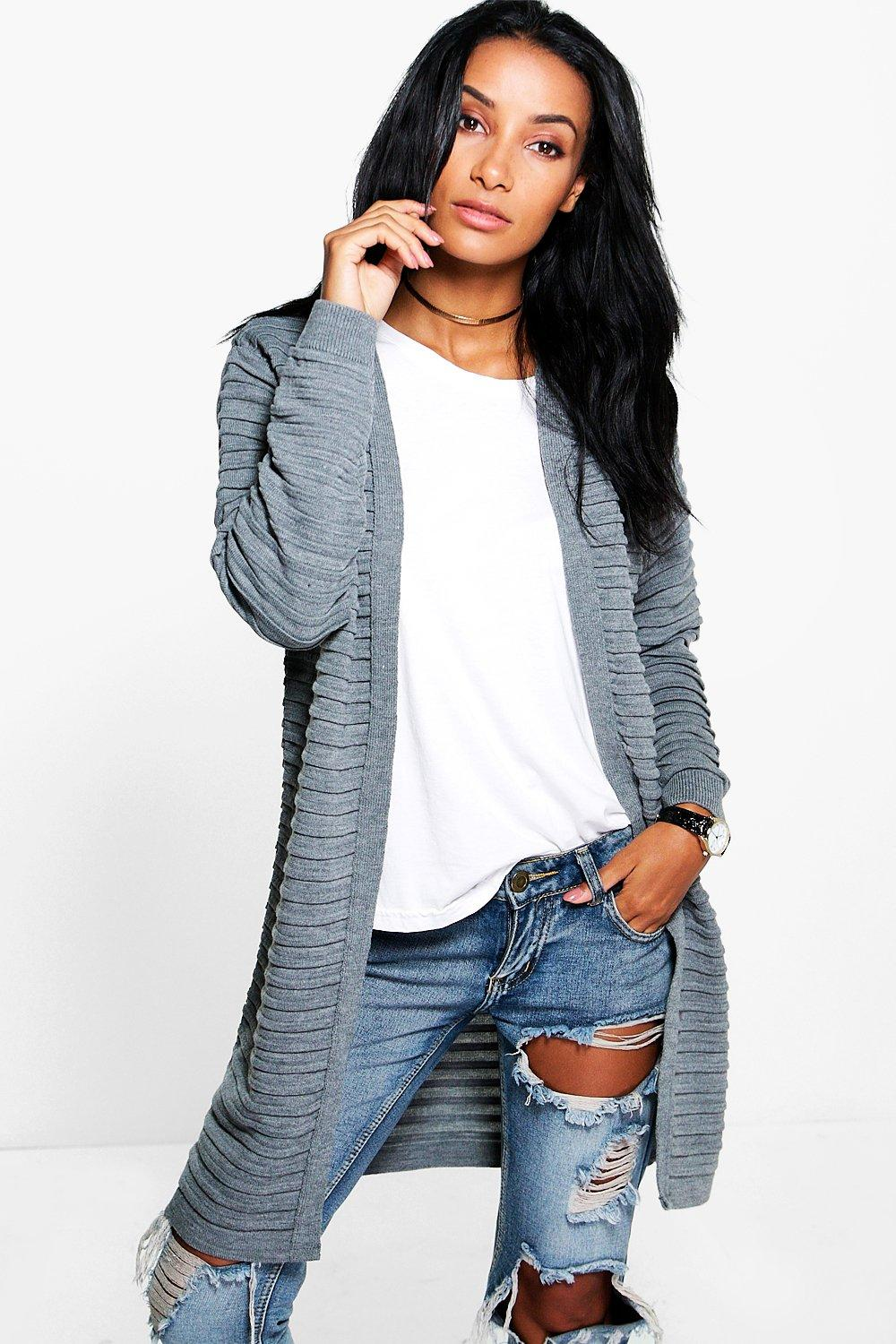 Nicole Rib Edge To Edge Cardigan
