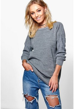 Maria Oversized Fisherman Knit Jumper