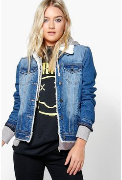 Ruth Borg Lined Denim Trucker Jacket