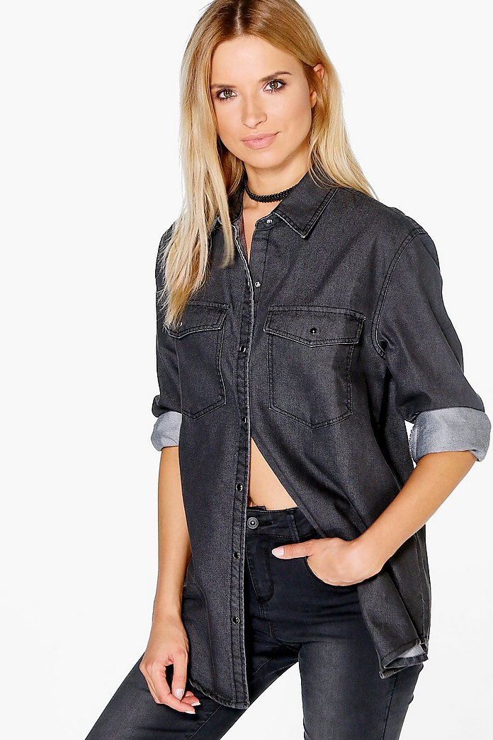Ellie Oversized Denim Shirt