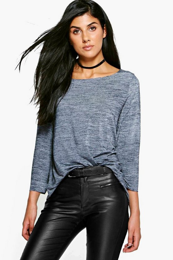 Hellen Premium Oversized Slash Neck Top