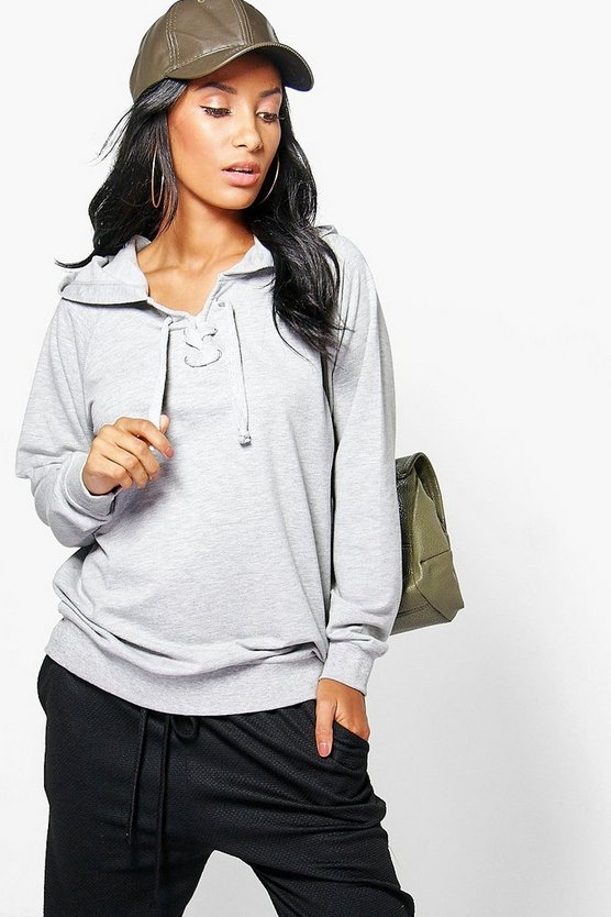 Freyja Lace Up Hoody