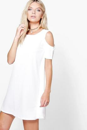 Faye Cold Shoulder Shift Dress