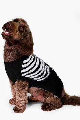 Pugsley Halloween Skeleton Dog Jumper