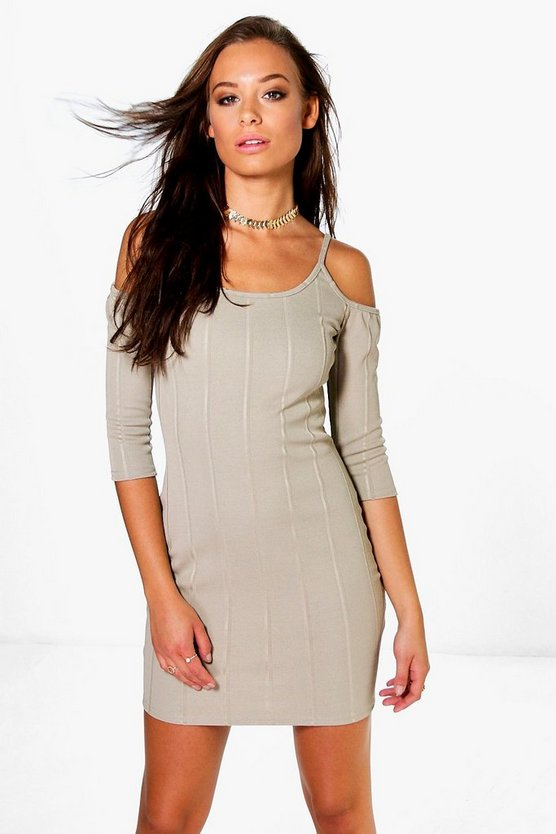 Isabel Half Cold Shoulder Bodycon Dress