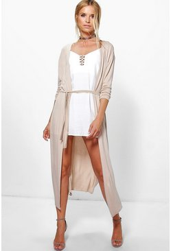 Jessica Belted Jersey Duster