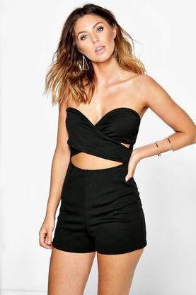Ava Strapless Bandeau Cut Front Playsuit