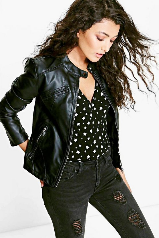 Lillie Zip Through Biker Jacket
