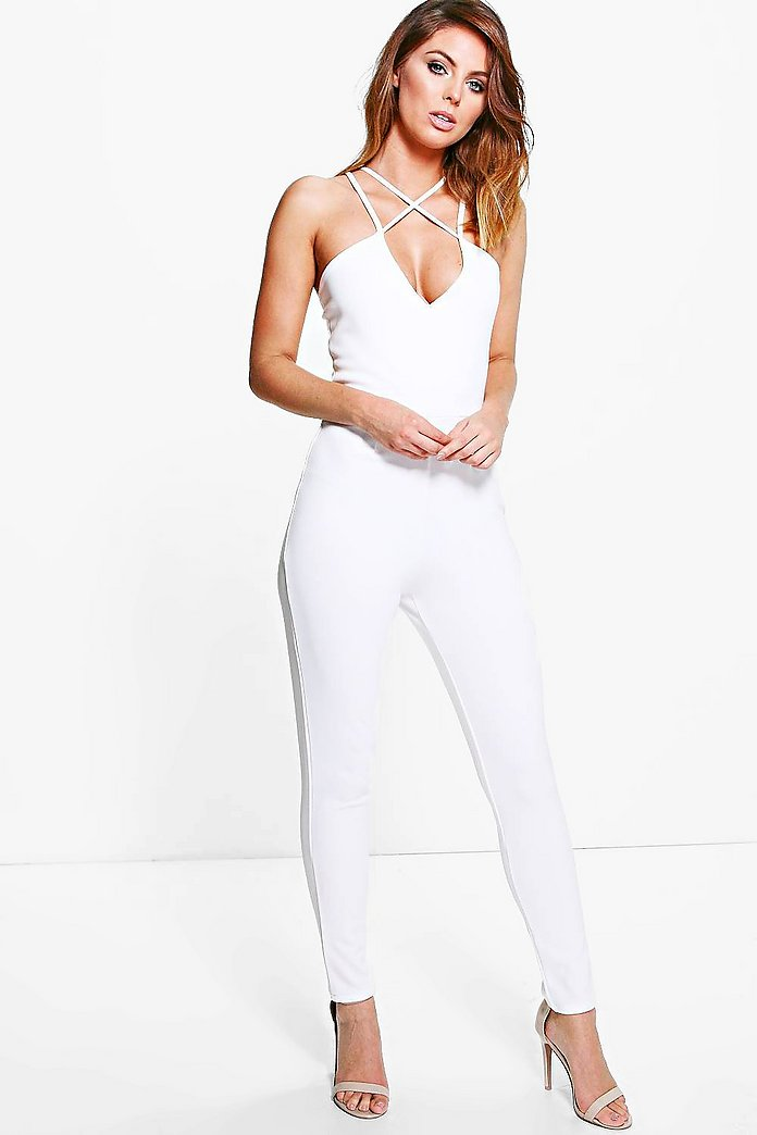 Karina Strappy Cross Front Jumpsuit