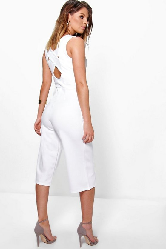 Louise Cross Back Culotte Jumpsuit
