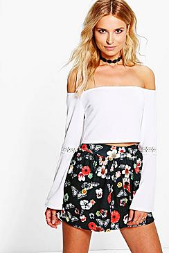 Mona Butterfly Print Flippy Shorts