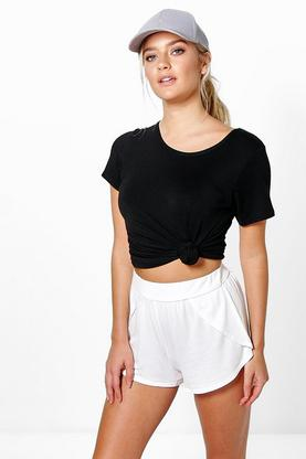 Bryony Wrap Over Jersey Shorts