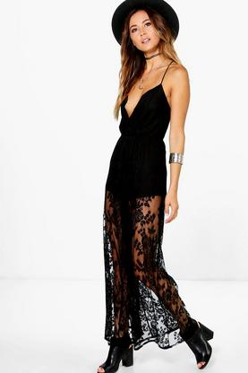 Faye Open Back Crochet Jumpsuit