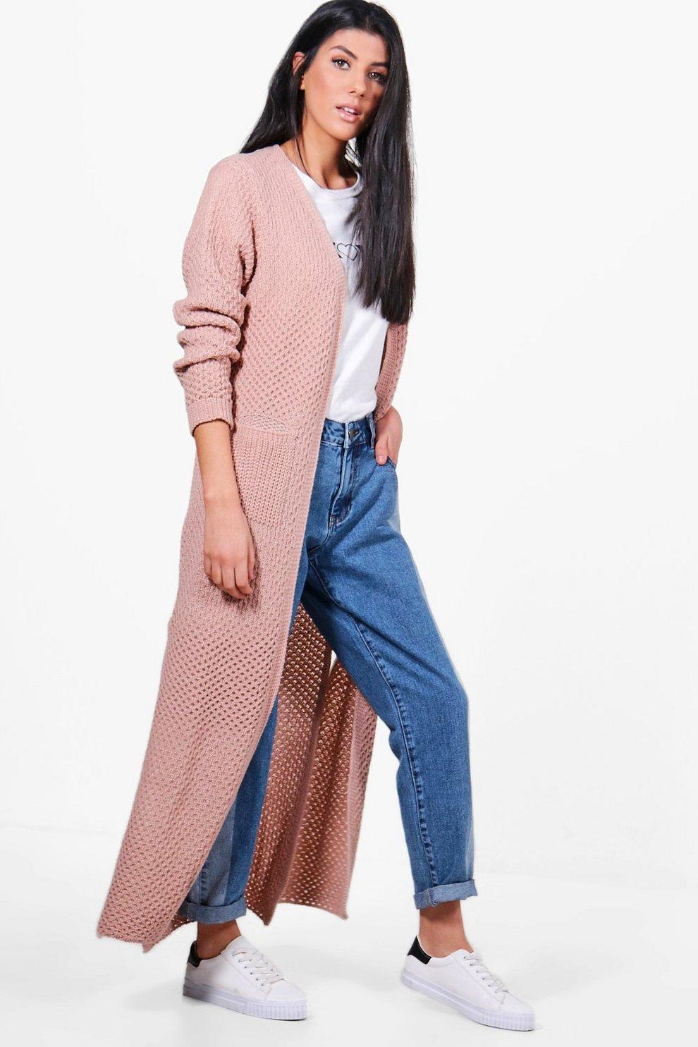 Jasmine Side Split Maxi Cardigan | Boohoo