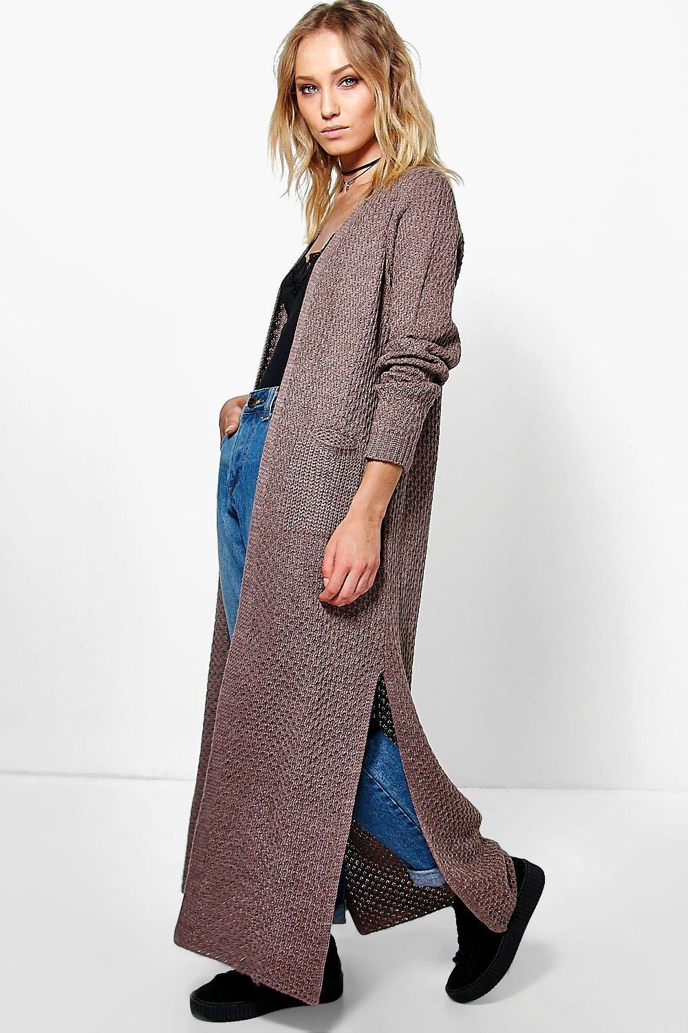 Jasmine Side Split Maxi Cardigan