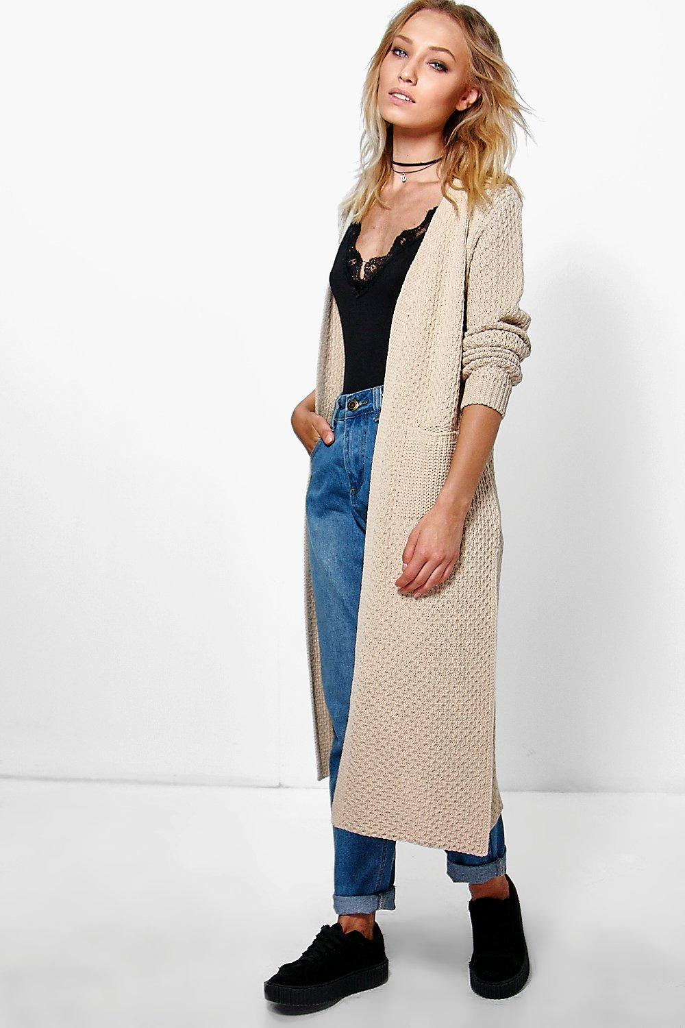 Cara Side Split Midi Cardigan