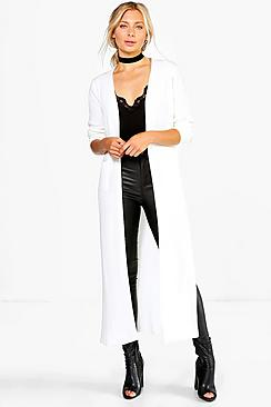 Jade Side Split Maxi Cardigan