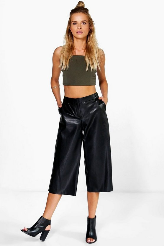 Caralia Faux Leather Culottes
