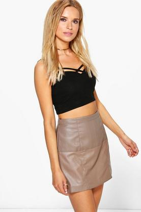 Ceira Faux Leather Mini Skirt