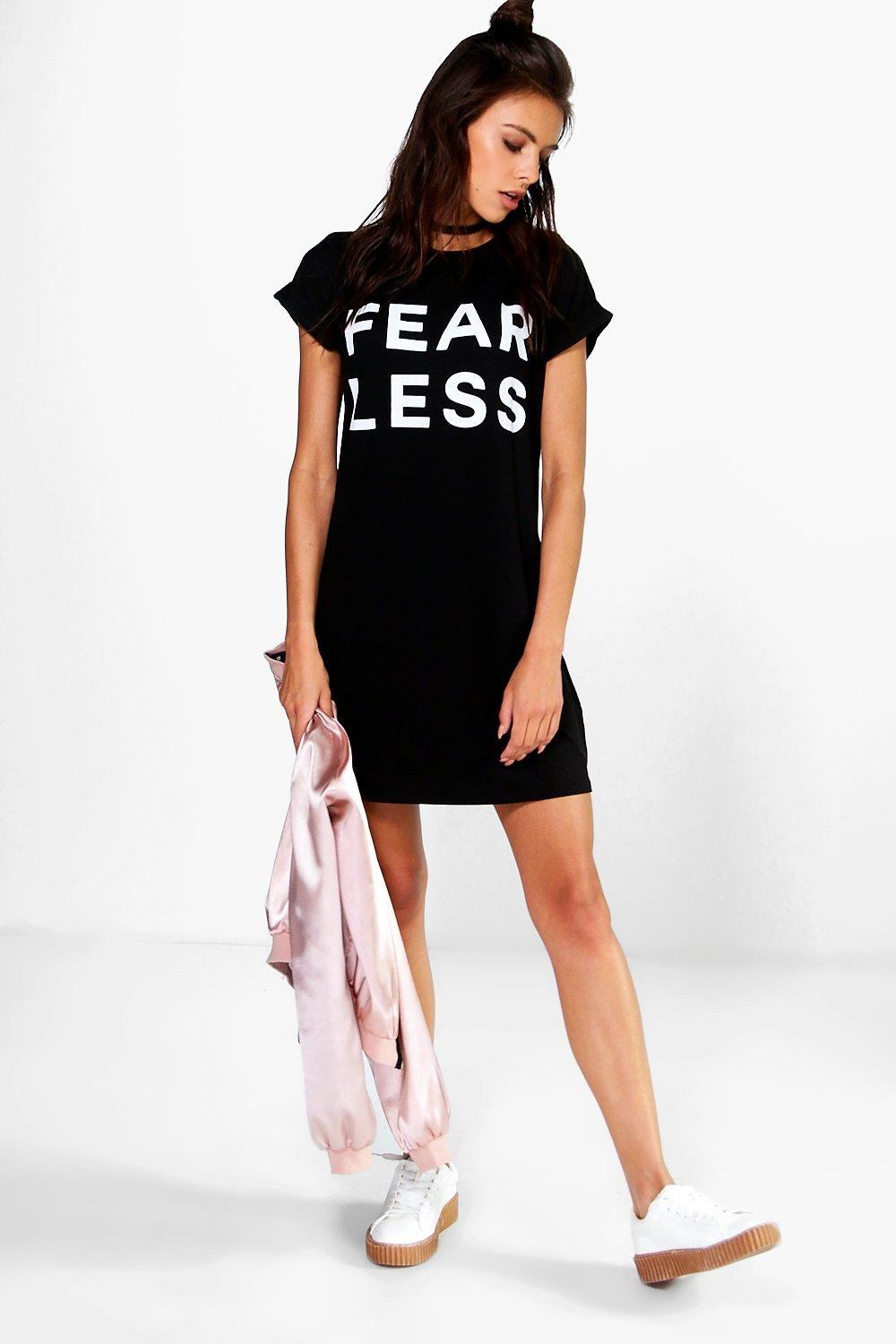 April Fearless T-Shirt Dress