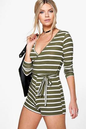 Holly Striped Belted Playsuit