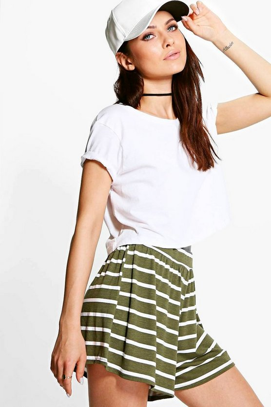 Zora Striped Flippy Shorts
