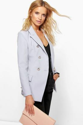 Natasha Double Breasted Structured Blazer
