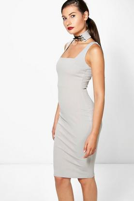Esmerelda Lace Choker Strappy Midi Dress