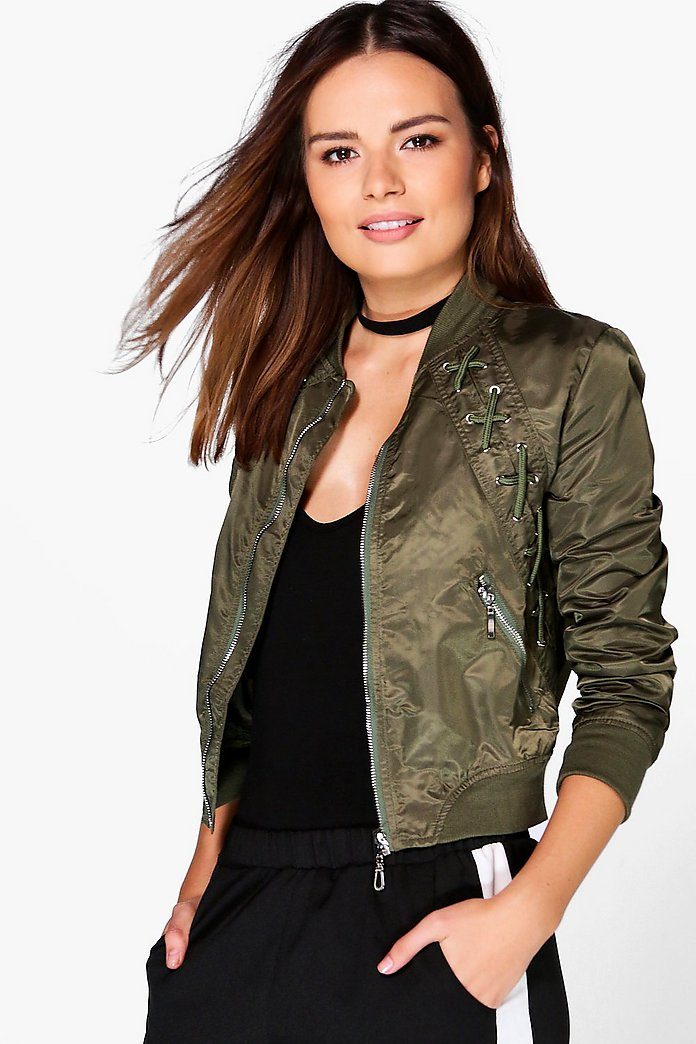 Esme Lace Up MA1 Bomber