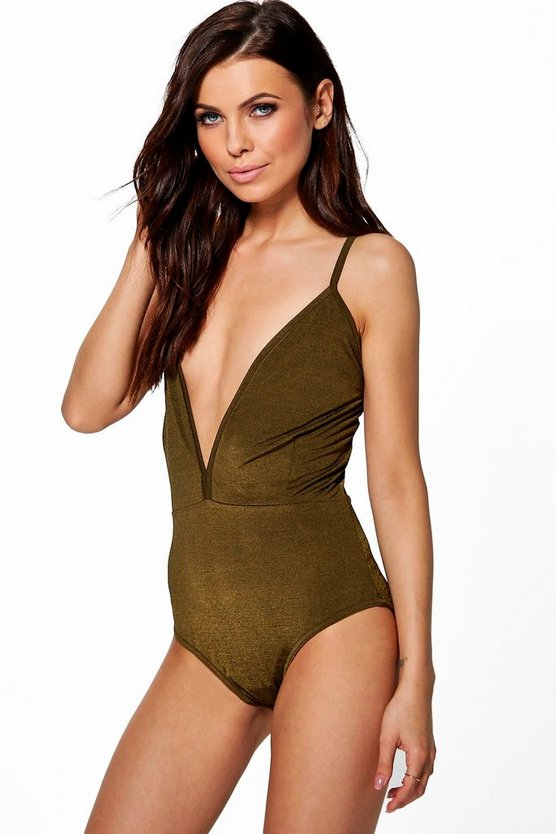 Sophie Plunge 2 Tone Metallic Body